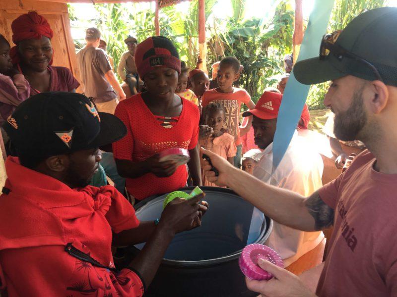 Tespo pods given to Haitian woman