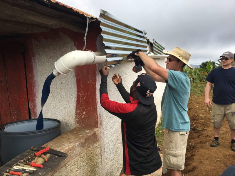 installing raincatcher in haiti