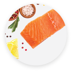 salmon and other foods