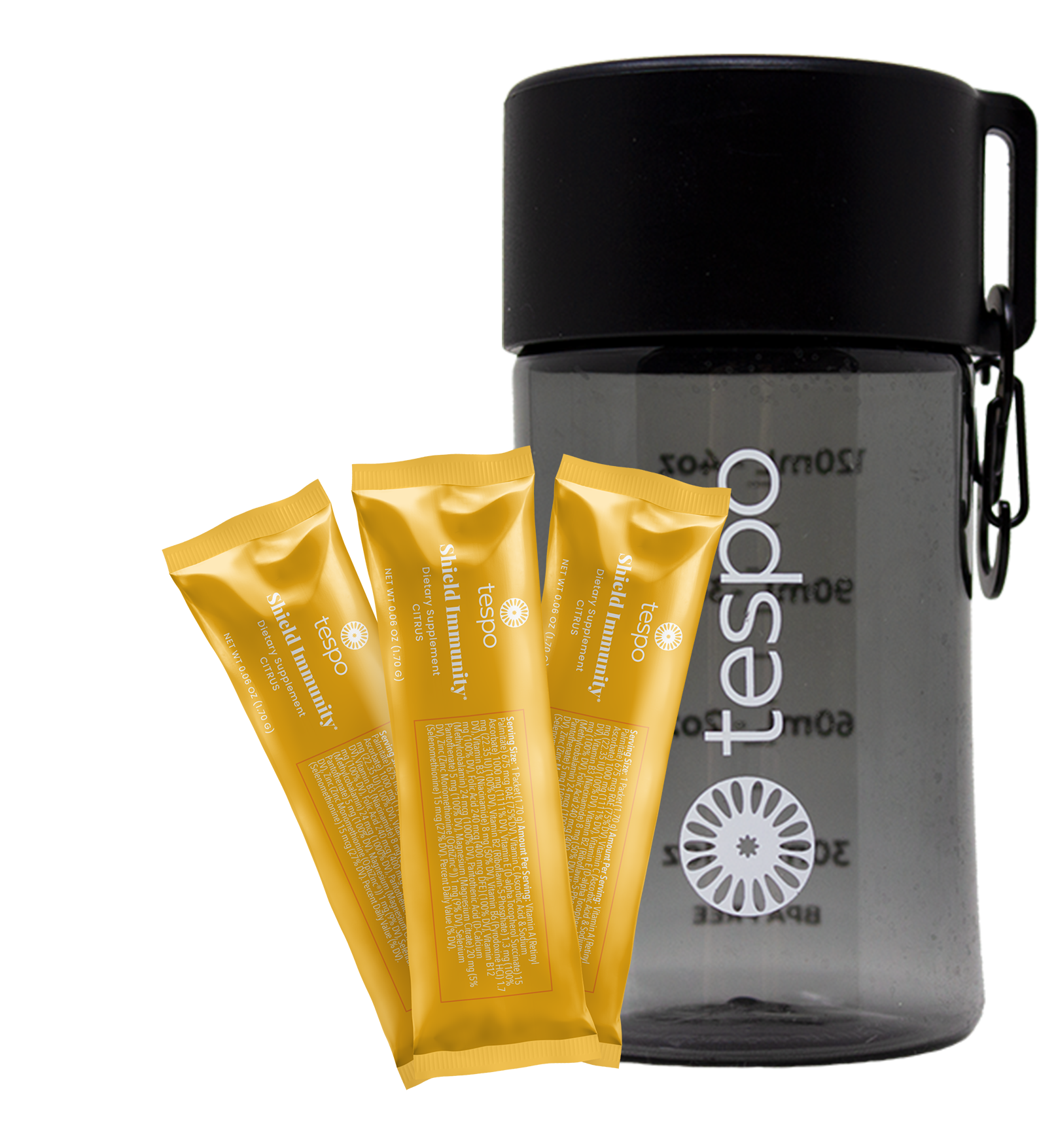 """Featured image for """"6 Count Sample Pack Tespo® Shield Immunity* & Go Bottle"""""""